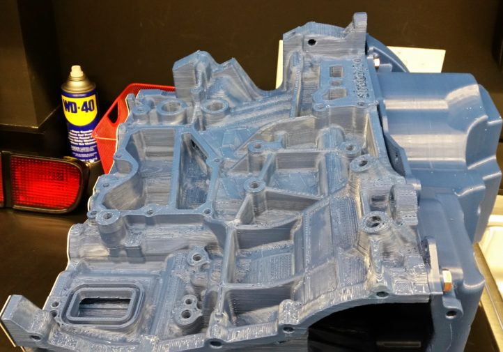 Photos from the SCRS SEMA Garage tour. This is a 3-D-printed engine block. (John Huetter/Repairer Driven News)