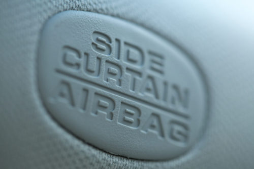 A side airbag indicator on a vehicle. (Thomas Brill/iStock)