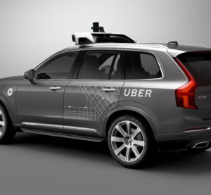 An example of a self-driving Uber Volvo XC90 offered when Volvo and Uber announced a new partnership to develop autonomous cars.  Bloomberg, which reported Thursday that Uber would offer free self-driving XC90 wheels with a human backup, featured what appears to be the same picture, indicating this might be what's going to hit the Pittsburgh streets this month. (Provided by Volvo)