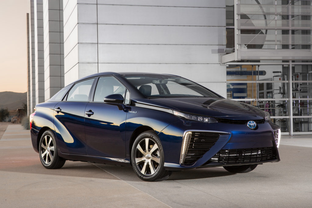 The 2016 Toyota Mirai. (Provided by Toyota)