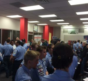 Students attend a Collision Repair Education Foundation job fair in Denver, Colo. (Provided by CREF)