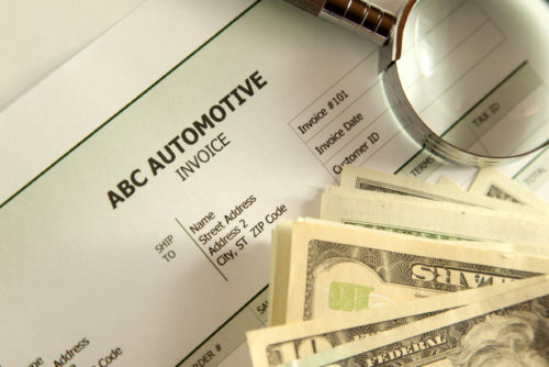 ABC Automotive takes payment in cash and magnifying glasses.  (Kameleon007/iStock illustration)