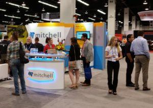 Mitchell's 2016 NACE booth is shown. (John Huetter/Repairer Driven News)
