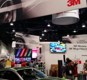 The 3M booth at SEMA 2015. (John Huetter/Repairer Driven News)
