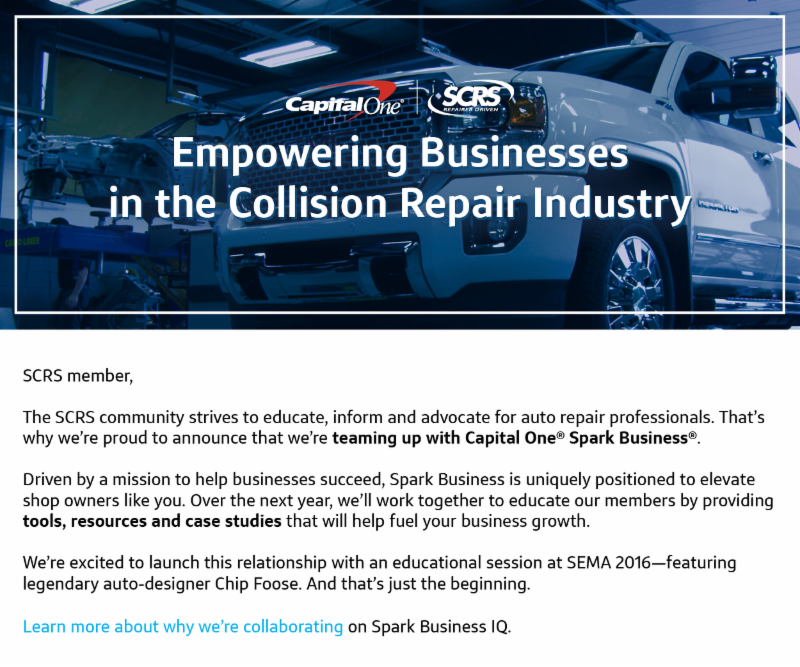 Spark Business IQ Capital e joined SCRS to empower auto