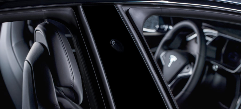 Tesla side pillar camera for Full Self-Driving Capability in a photo provided by Tesla in 2016. (Provided by Tesla)