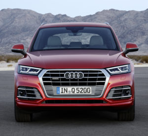 The second-generation Audi Q5, on sale in 2017, lost up to nearly 200 pounds by using higher-strength steel and aluminum. (Provided by Audi)
