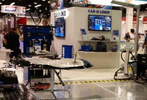The Car-O-Liner booth can be seen at NACE 2016. (John Huetter/Repairer Driven News)