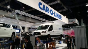 The Car-O-Liner booth sits at SEMA 2015. (John Huetter/Repairer Driven News)