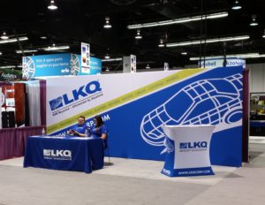 The LKQ booth is shown at NACE 2016. (John Huetter/Repairer Driven News)