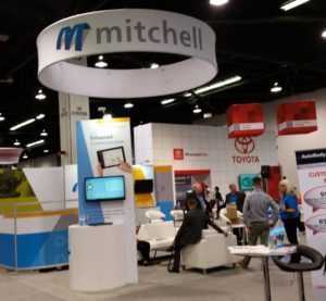 Mitchell's booth is seen during the 2016 NACE. (John Huetter/Repairer Driven News)
