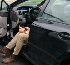 A 2012 Honda Civic is scanned.  (John Huetter/Repairer Driven News)
