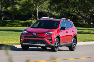 A 2016 Toyota RAV4 SE is shown. (Provided by Toyota)