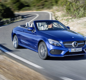 A 2017 Mercedes C300 Cabriolet is shown. (Provided by Mercedes)