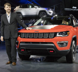 FCA Jeep head Mike Manley introduces the 2017 Jeep Compass at the Los Angeles Auto Show on Nov. 17, 2016. (Provided by FCA)