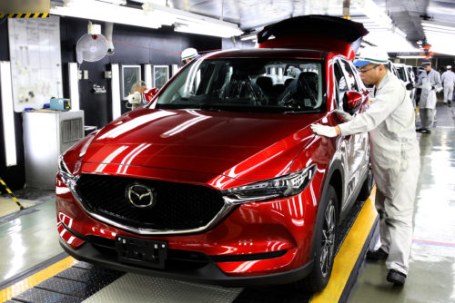 Production has begun on the 2017 Mazda CX-5. (Provided by Mazda)