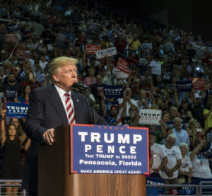Republican presidential candidate Donald Trump speaks Sept. 9, 2016. (mphillips007/iStock)