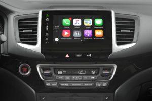 Apple CarPlay in the 2017 Honda Pilot is shown. (Provided by Honda)