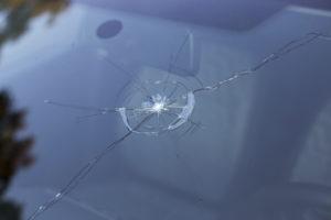 A broken windshield. (HarryHuber/iStock)