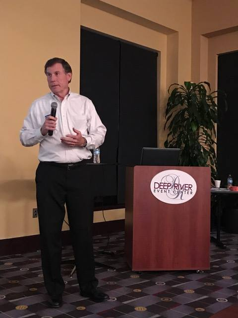 Republican Mike Causey speaks to the North Carolina Auto Body Association in September 2016. (Provided by North Carolina Auto Body Association)