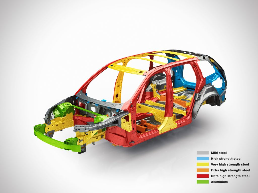 Hot formed steel makes up about 40 percent of the Volvo XC90 body weight, Volvo has estimated. (Provided by Volvo)