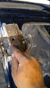 A Wednesday video by an Arizona auto body shop professional describes a structurally compromised 2011 Toyota Camry following a botched collision repair. (Screenshot from Coach Works Auto Body video on YouTube)