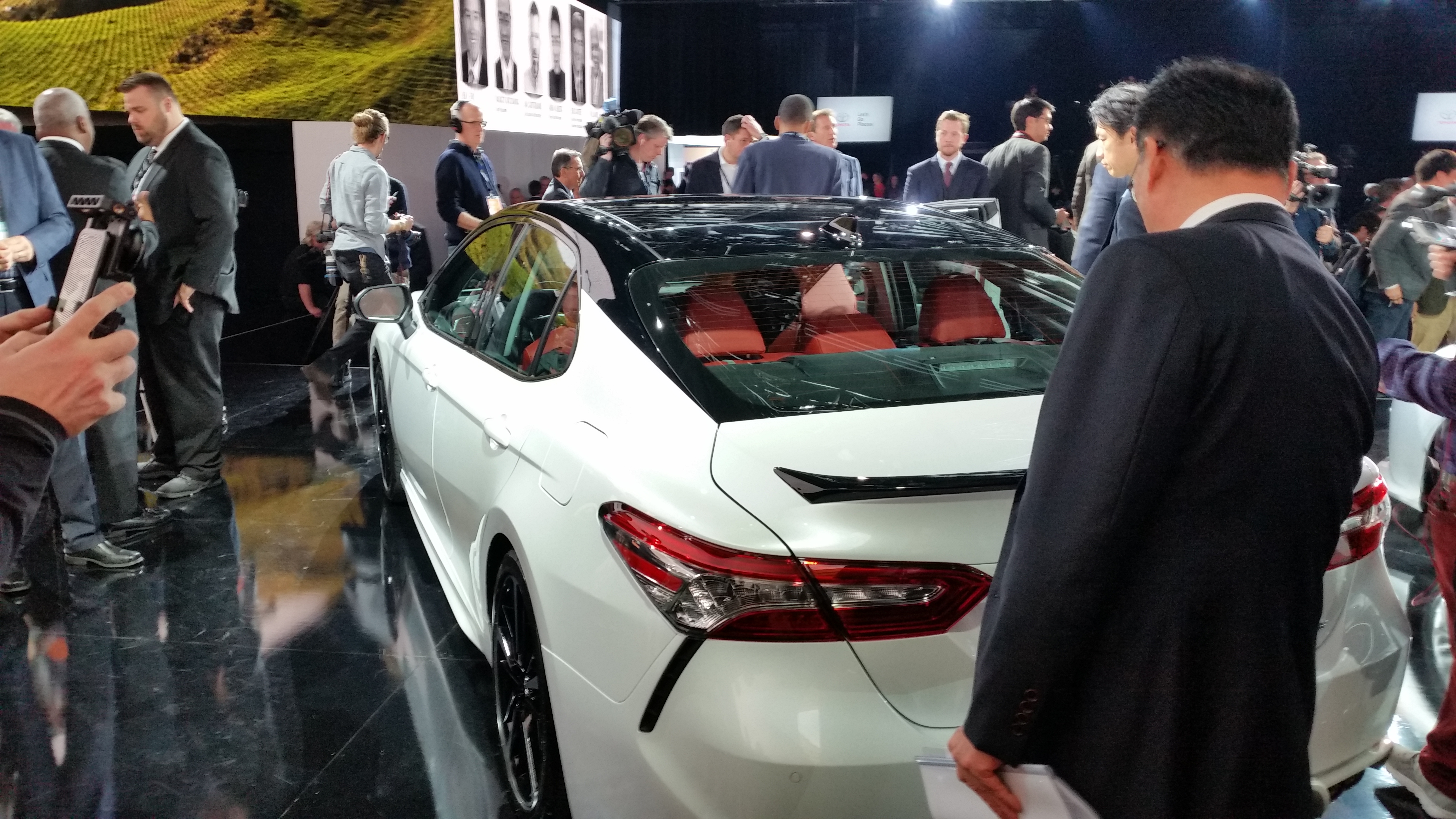 2018 toyota white camry. Modren 2018 The Twotone Option For The 2018 Toyota Camry Is Shown John  HuetterRepairer Driven News To Toyota White Camry
