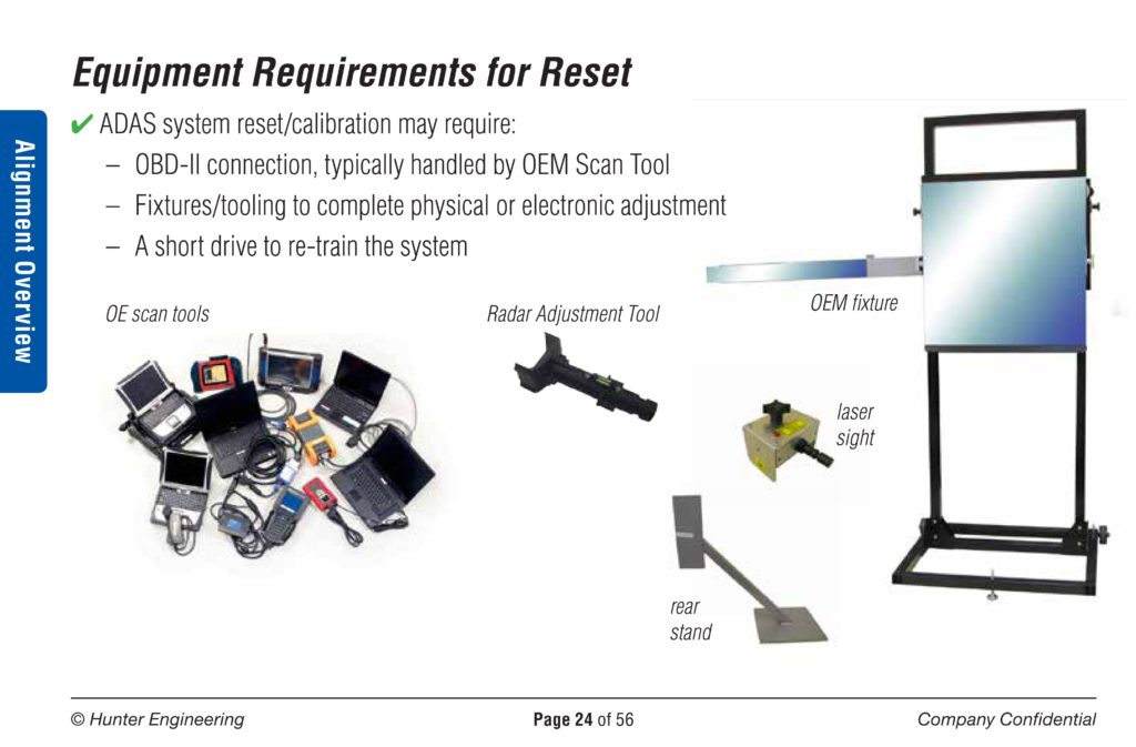 Hunter: Variety of OEM requirements for calibration could be