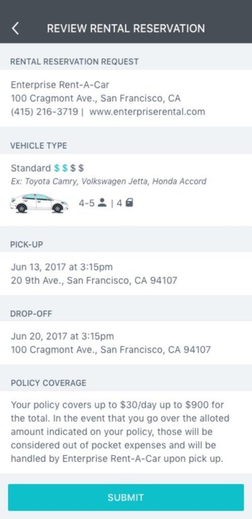 Metromile Insurance Rental Car