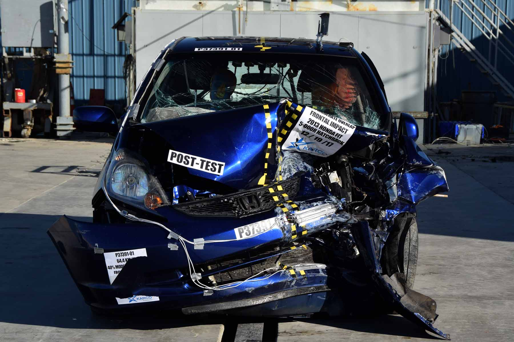 IIHS: Tracy's aftermarket-parts Fit showed some higher risk, but still  would be rated 'Good' - Repairer Driven NewsRepairer Driven News