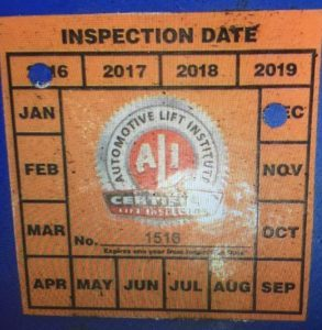 Automotive Lift Institute Beware Counterfeit N Y Lift Inspection