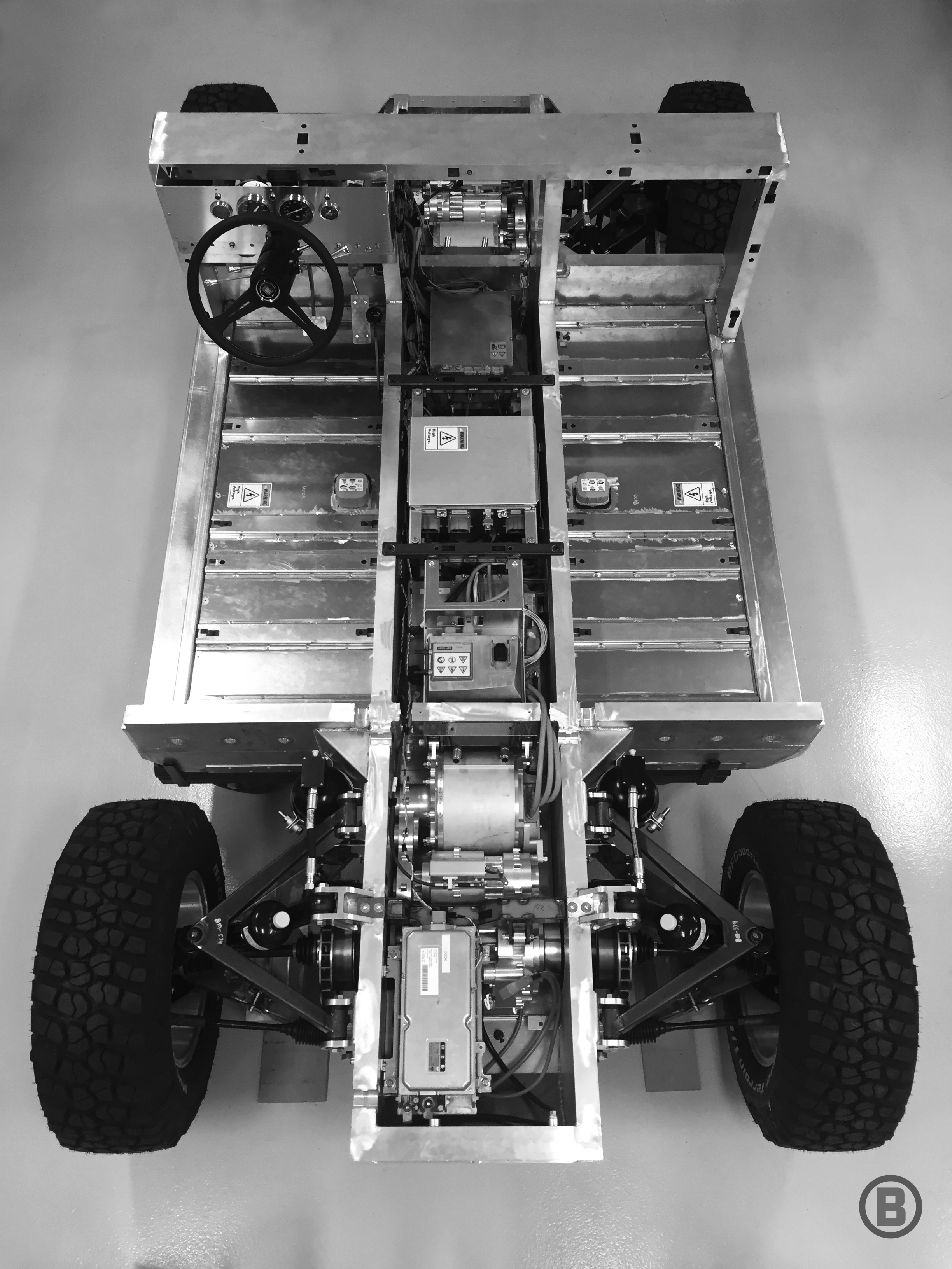 The Frame Of Electric Aluminum Bollinger B1 Sport Utility Truck Is Shown Provided By Motors
