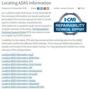 oem repair information