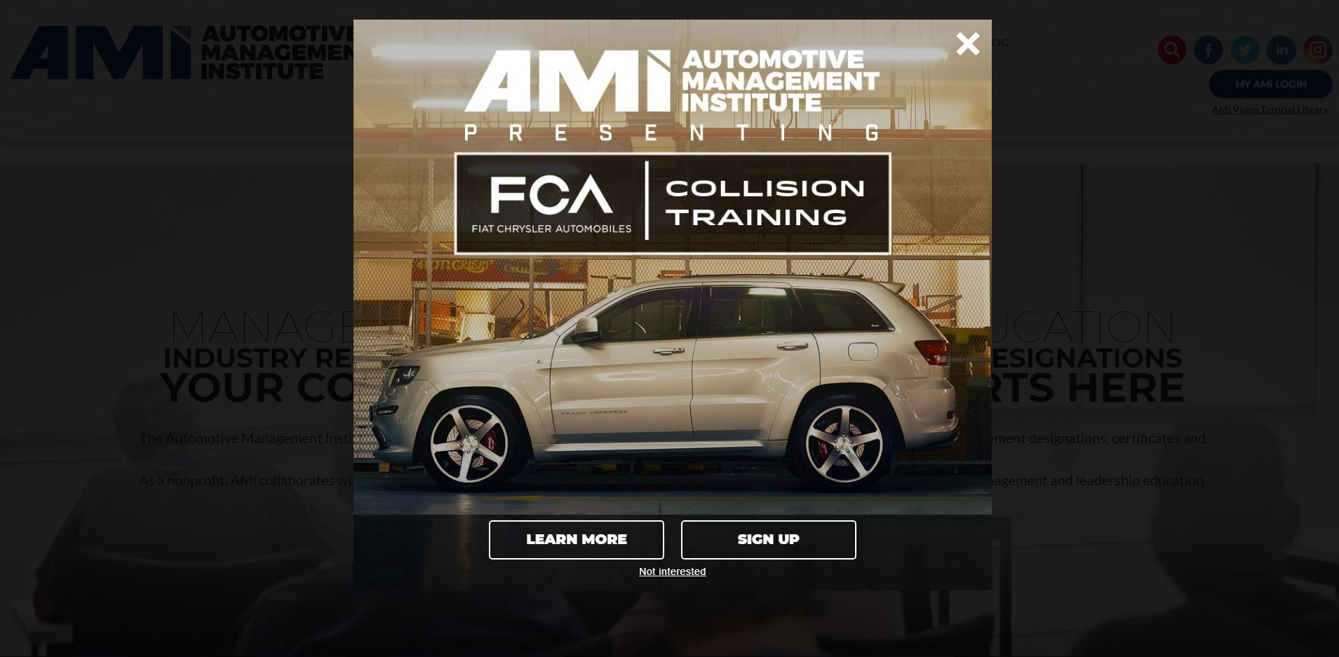 FCA offers 'highly recommended' AMi courses for certified