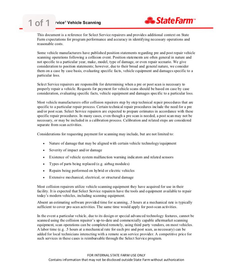 State Farm Drp Guidance On Scans Might Provide Support To Unaffiliated Body Shops Repairer Driven Newsrepairer Driven News