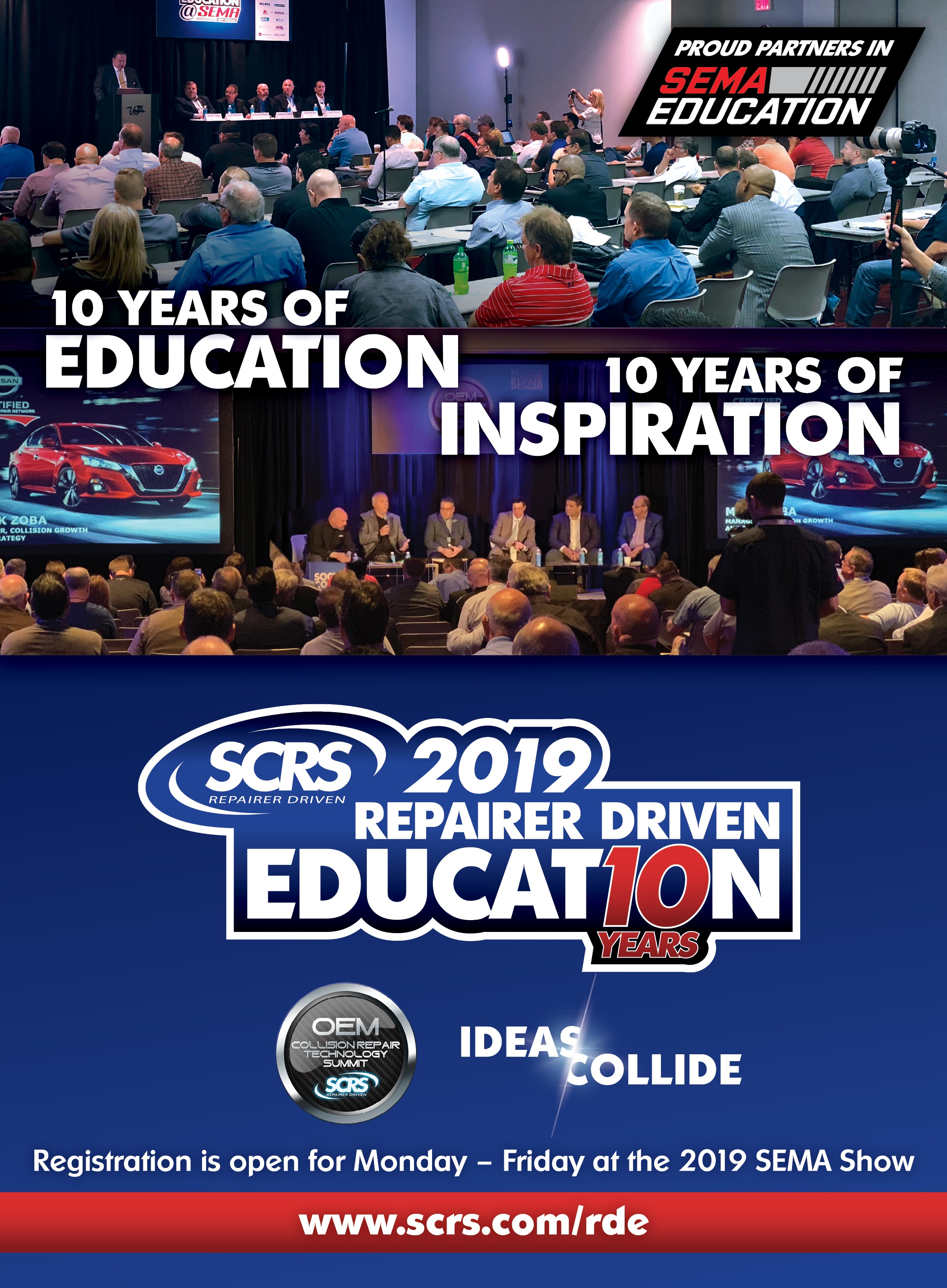 Attend the 2019 Repairer Driven Education series at SEMA