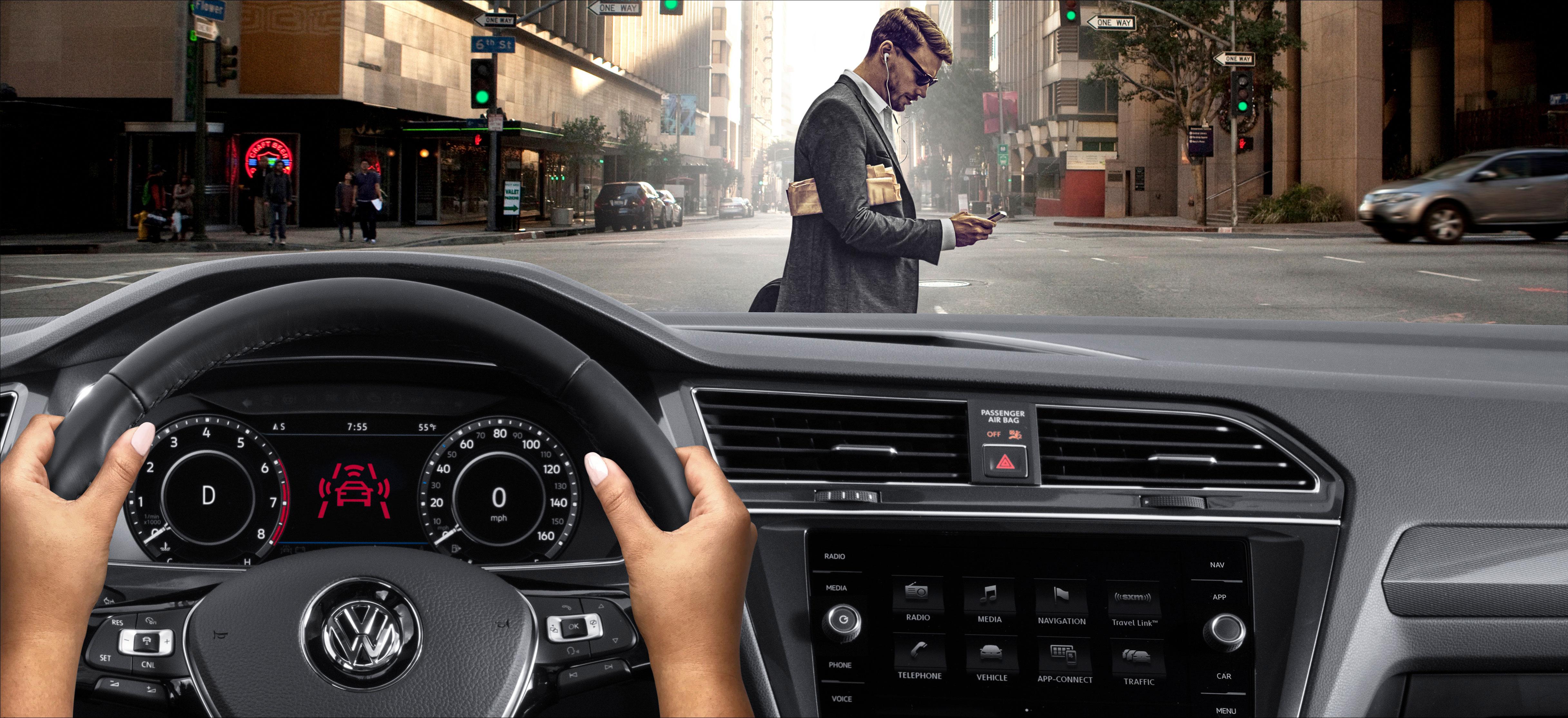 Volkswagen describes autobraking/pedestrian monitoring radar