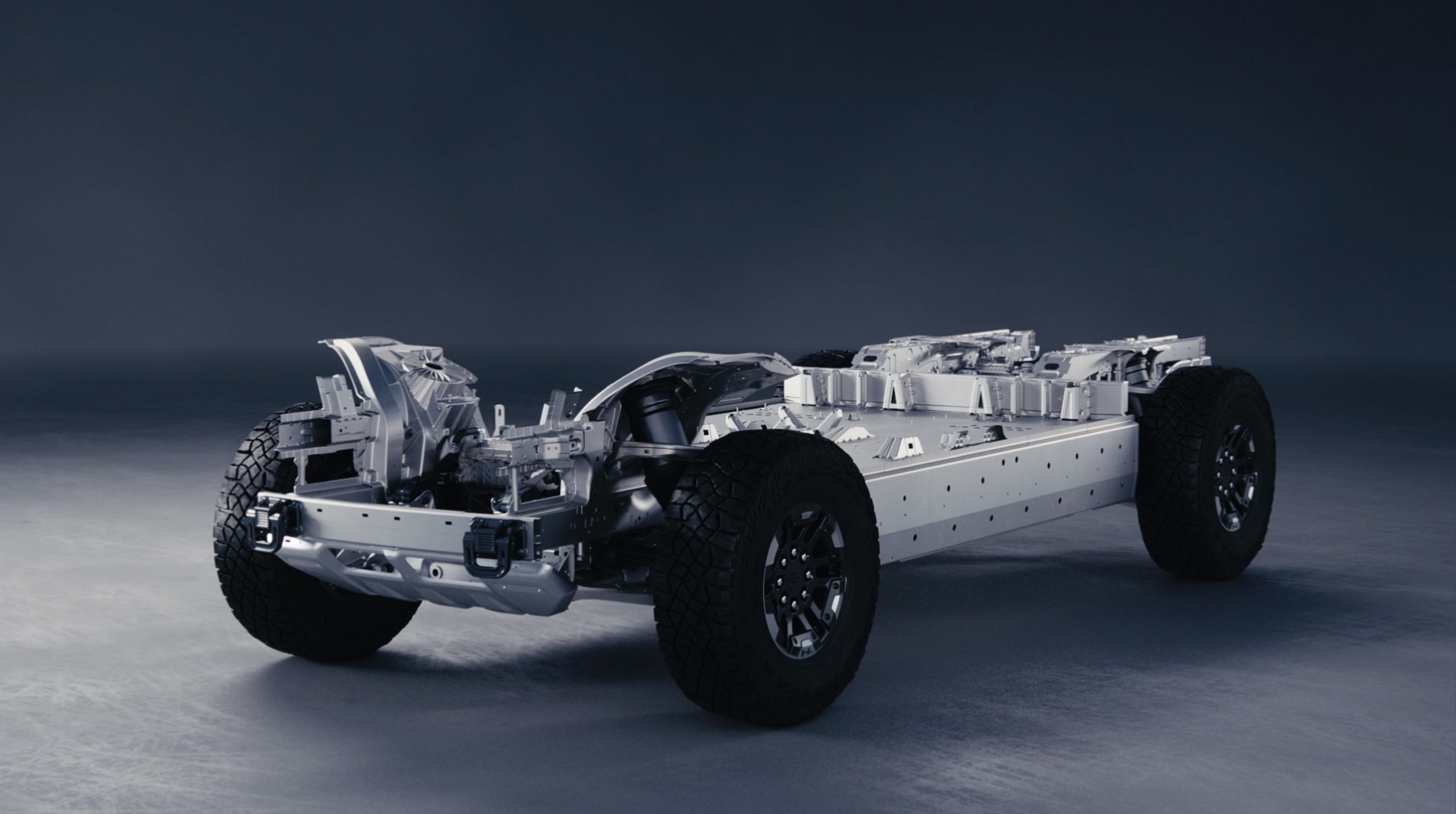 Electric 2022 GMC HUMMER Edition 1 structure relies on ...